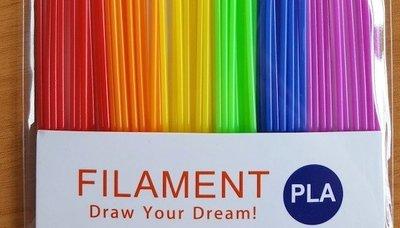 6 KLEUREN! 60x 0,25m - PLA Sticks - Rainbow