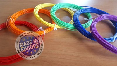 6x 10m - PLA Filament -Rainbow (±200g) | GRATIS OPBERGCLIPS!