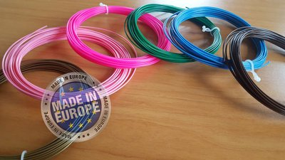 6x 10m - PLA Filament - Natural (±200g) | GRATIS OPBERGCLIPS!
