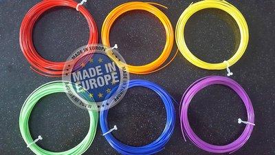 6x 10m - ABS Filament - Rainbow (±150g) | GRATIS OPBERGCLIPS!
