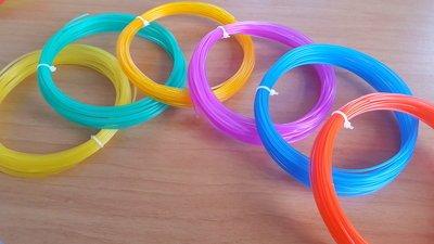6x 10m - PLA - GLASS Filament pakket (ca. 200g)