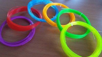 6x 10m - PLA - Fluorescent Filament pakket (ca. 200g)